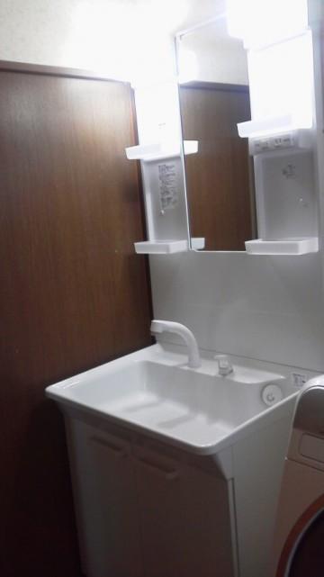 洗面化粧台交換工事 新潟県新潟市 TOTO  LDPA075BAGEN1A
