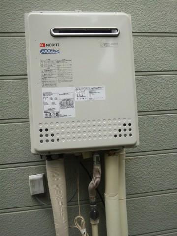 新潟県加茂市  エコジョーズガス給湯器交換工事 ノーリツGT-C2452SAWX-2BL