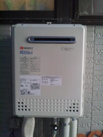 新潟県燕市 エコジョーズガス給湯器交換工事 ノーリツGT-C2452SAWX-2BL