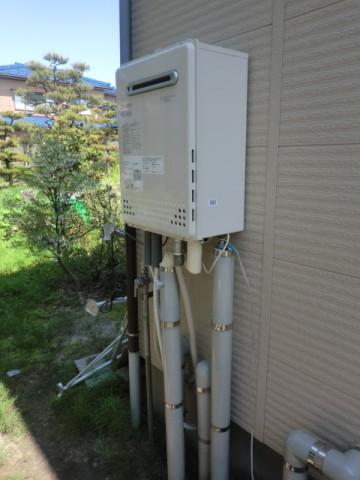 新潟県新発田市 エコジョーズガス給湯器交換工事 ノーリツGT-C2452SAWX-2BL