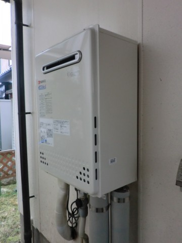 給湯器交換 新潟県長岡市 エコジョーズガス給湯器ノーリツGT-C2452SAWX-2BL