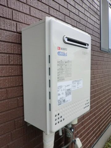 給湯器交換 新潟県長岡市 GT-C2452SAWX-2BLノーリツエコジョーズ給湯器
