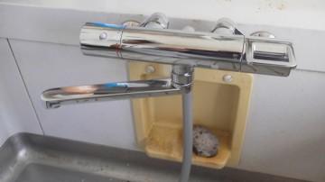 新潟修理交換センター・浴室サーモ付シャワー混合水栓交換工事 新潟県三条市 TOTO TMGG40E