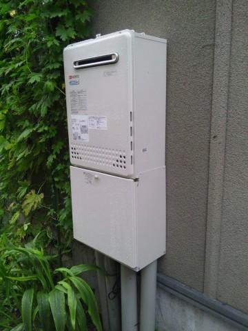 新潟県柏崎市・エコジョーズ給湯器交換工事 ノーリツGT-C2452SAWX-2BL