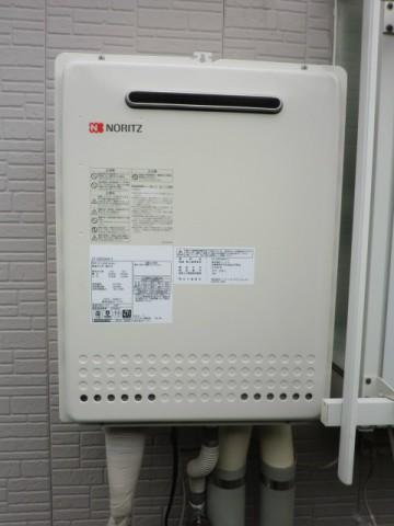 給湯器交換 新潟県長岡市ガス 給湯器交換工事  ノーリツGT-C2452SAWX-2BL
